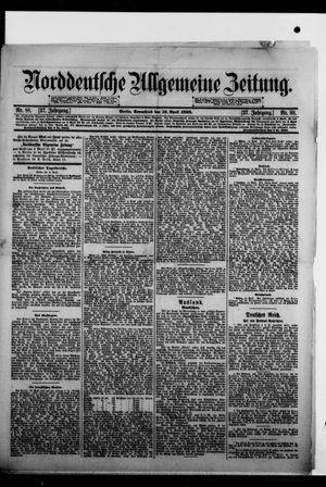 Norddeutsche allgemeine Zeitung vom 16.04.1898
