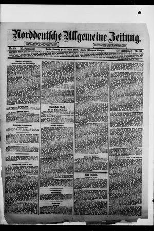 Norddeutsche allgemeine Zeitung vom 17.04.1898