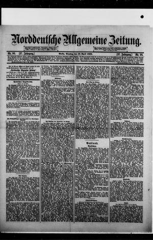 Norddeutsche allgemeine Zeitung vom 19.04.1898