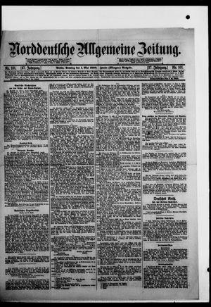 Norddeutsche allgemeine Zeitung vom 01.05.1898