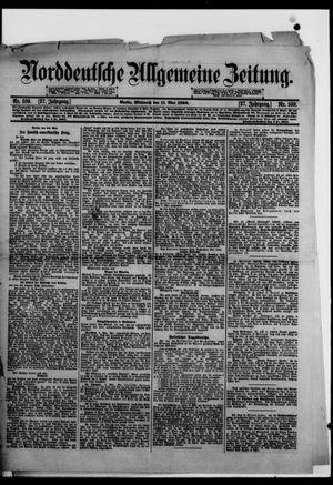 Norddeutsche allgemeine Zeitung vom 11.05.1898