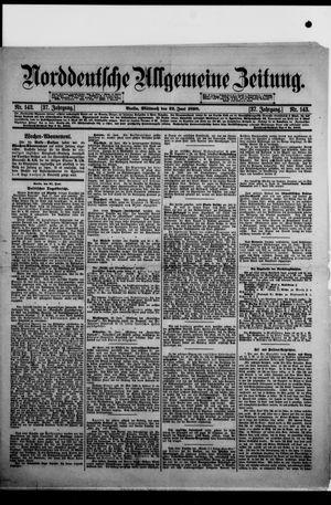 Norddeutsche allgemeine Zeitung vom 22.06.1898