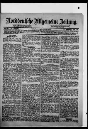 Norddeutsche allgemeine Zeitung vom 23.06.1898