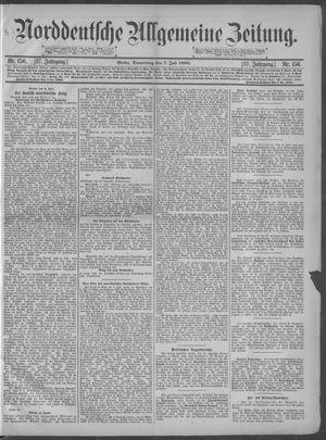Norddeutsche allgemeine Zeitung on Jul 7, 1898