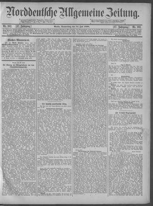 Norddeutsche allgemeine Zeitung vom 14.07.1898