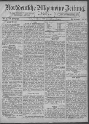 Norddeutsche allgemeine Zeitung vom 01.01.1899