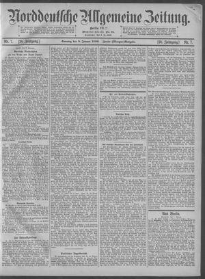 Norddeutsche allgemeine Zeitung vom 08.01.1899
