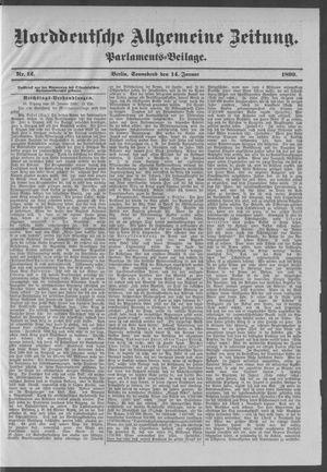 Norddeutsche allgemeine Zeitung vom 14.01.1899