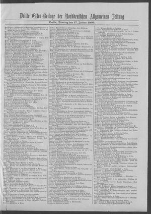 Norddeutsche allgemeine Zeitung vom 17.01.1899