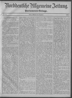 Norddeutsche allgemeine Zeitung vom 18.01.1899