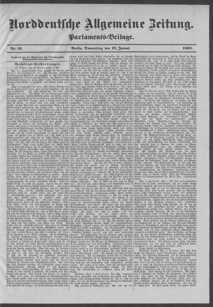 Norddeutsche allgemeine Zeitung vom 19.01.1899