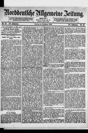 Norddeutsche allgemeine Zeitung vom 24.01.1899