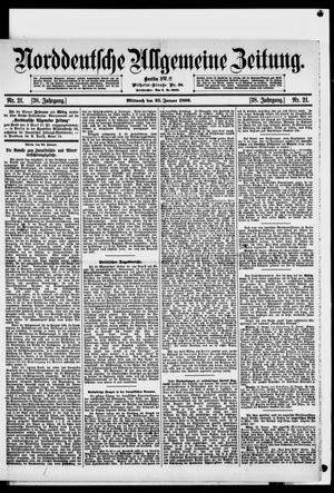 Norddeutsche allgemeine Zeitung vom 25.01.1899