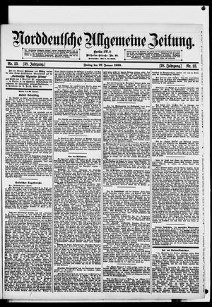 Norddeutsche allgemeine Zeitung vom 27.01.1899