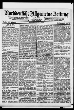 Norddeutsche allgemeine Zeitung vom 04.02.1899