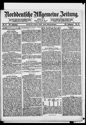 Norddeutsche allgemeine Zeitung on Feb 5, 1899