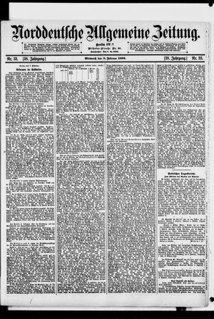 Norddeutsche allgemeine Zeitung vom 08.02.1899