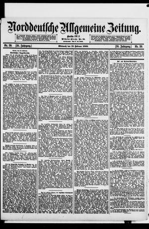 Norddeutsche allgemeine Zeitung on Feb 15, 1899