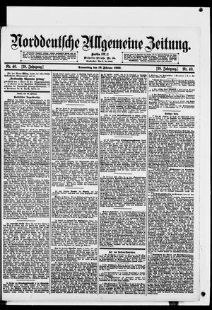 Norddeutsche allgemeine Zeitung vom 16.02.1899