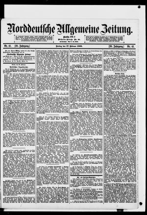 Norddeutsche allgemeine Zeitung vom 17.02.1899