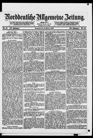 Norddeutsche allgemeine Zeitung vom 18.02.1899