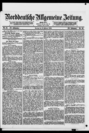 Norddeutsche allgemeine Zeitung vom 19.02.1899