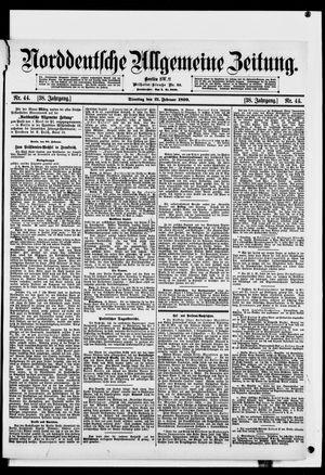 Norddeutsche allgemeine Zeitung vom 21.02.1899