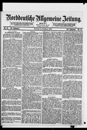 Norddeutsche allgemeine Zeitung vom 25.02.1899