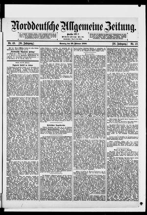 Norddeutsche allgemeine Zeitung vom 26.02.1899