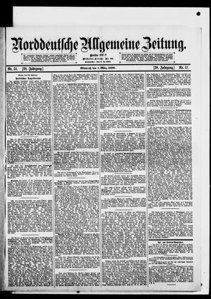 Norddeutsche allgemeine Zeitung on Mar 1, 1899