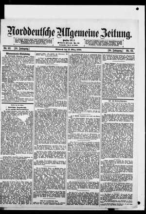 Norddeutsche allgemeine Zeitung vom 15.03.1899
