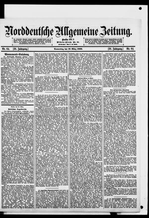 Norddeutsche allgemeine Zeitung on Mar 16, 1899