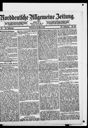 Norddeutsche allgemeine Zeitung vom 22.03.1899