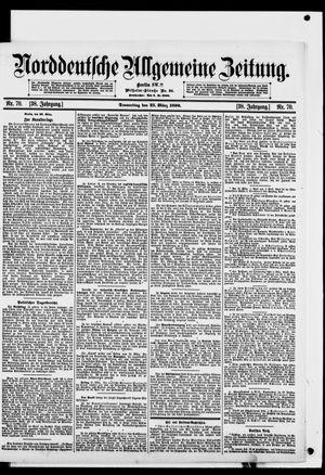 Norddeutsche allgemeine Zeitung vom 23.03.1899