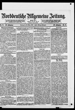 Norddeutsche allgemeine Zeitung vom 26.03.1899