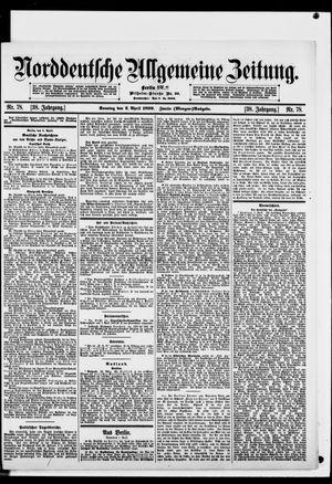 Norddeutsche allgemeine Zeitung vom 02.04.1899