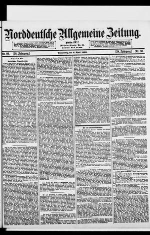 Norddeutsche allgemeine Zeitung vom 06.04.1899