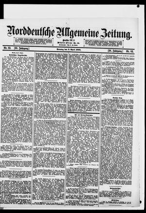 Norddeutsche allgemeine Zeitung vom 09.04.1899