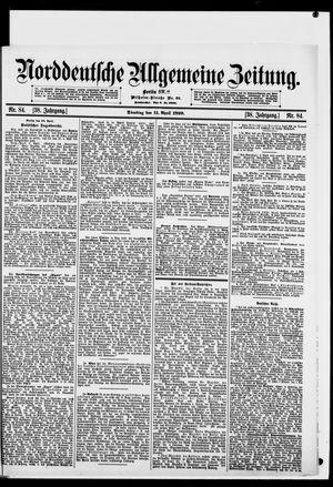 Norddeutsche allgemeine Zeitung vom 11.04.1899