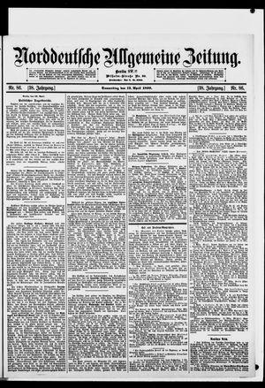 Norddeutsche allgemeine Zeitung vom 13.04.1899