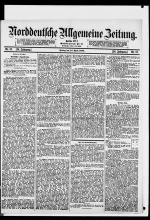 Norddeutsche allgemeine Zeitung on Apr 14, 1899