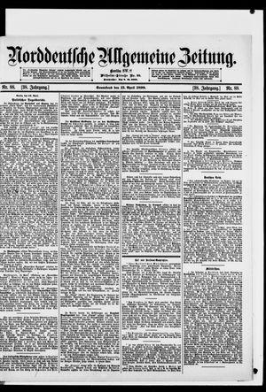 Norddeutsche allgemeine Zeitung vom 15.04.1899