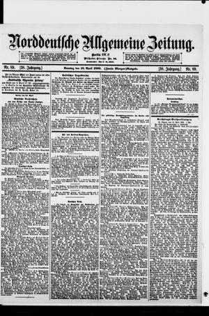 Norddeutsche allgemeine Zeitung vom 16.04.1899