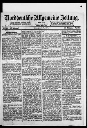 Norddeutsche allgemeine Zeitung vom 03.05.1899