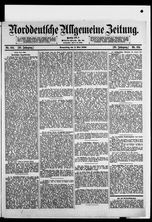 Norddeutsche allgemeine Zeitung on May 4, 1899
