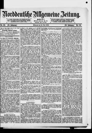 Norddeutsche allgemeine Zeitung vom 24.05.1899