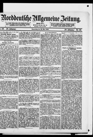 Norddeutsche allgemeine Zeitung vom 25.05.1899