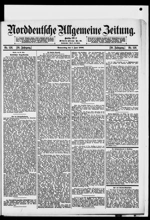 Norddeutsche allgemeine Zeitung vom 01.06.1899
