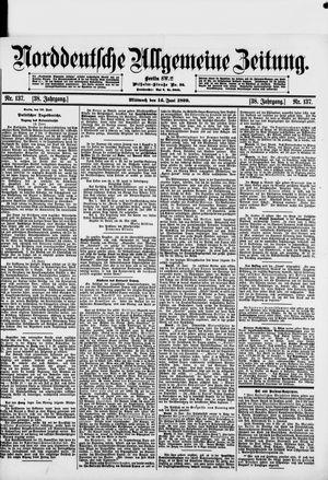 Norddeutsche allgemeine Zeitung vom 14.06.1899