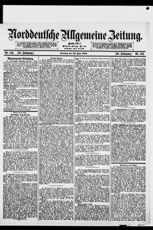 Norddeutsche allgemeine Zeitung vom 20.06.1899